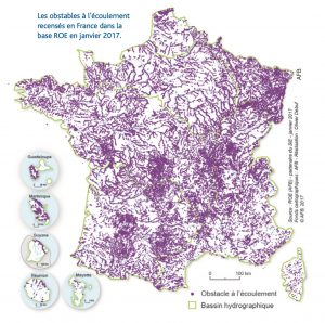 Map showing more than 90,000 obstacles in France