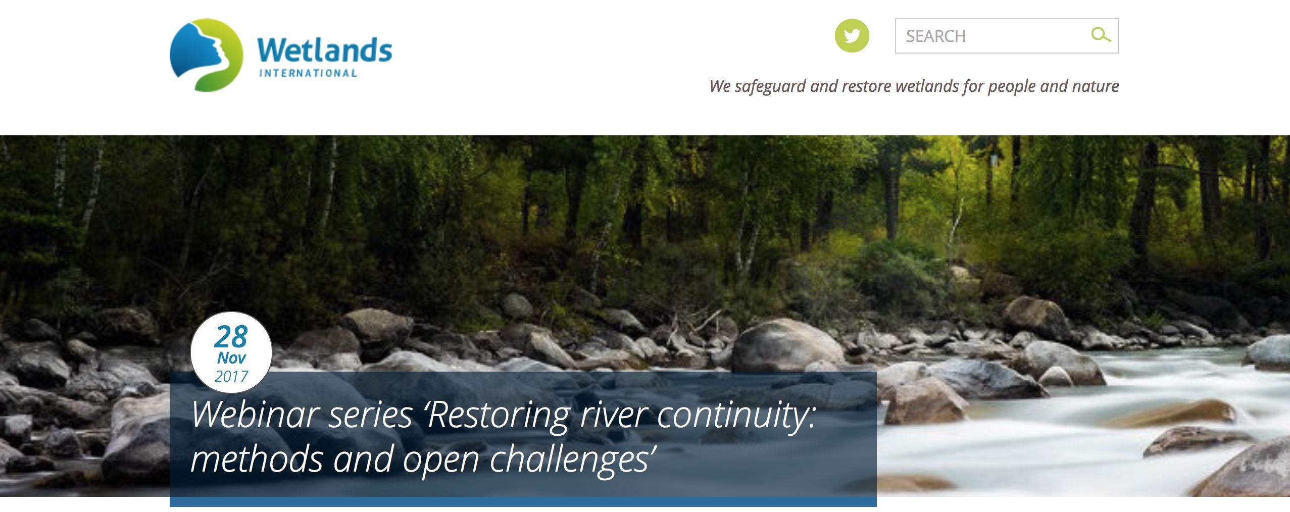 Wetlands International webinar series: Dam Removal Step by Step