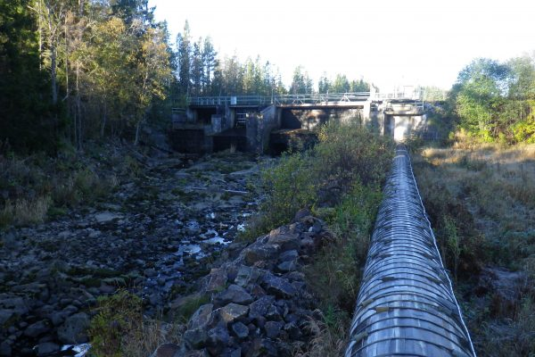 Milsbro hydropower in Gnarpsån. Photo credit: Christer Borg