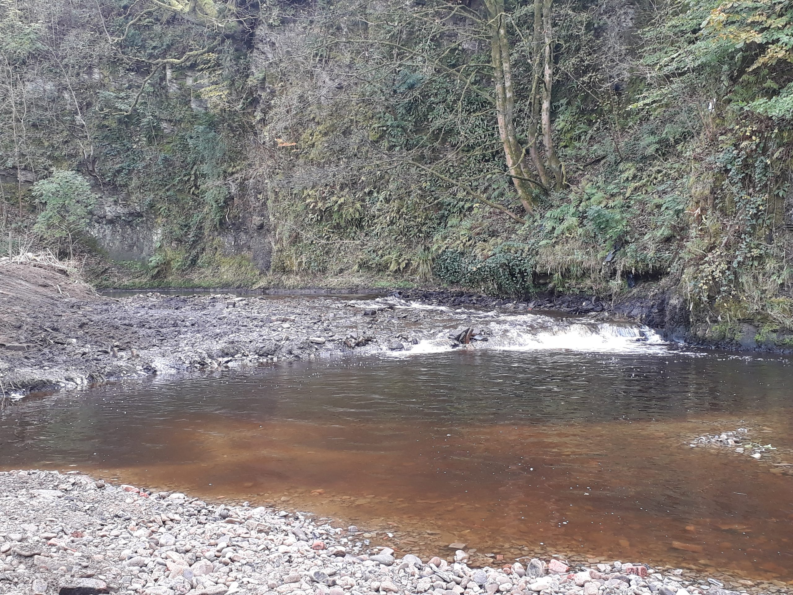 A successful partnership led to the removal of Hall i'th' Wood Weir